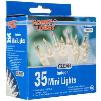 Clear Bulbs Mini Indoor Lights With White Cord